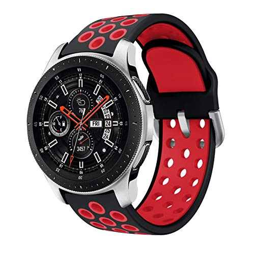 Sycreek 22mm Correa de Reloj Compatible para Samsung Gear S3 Correa de Silicona Doble Color Pulsera de Repuesto para Galaxy Watch 46mm/Gear S3 Frontier/Gear S3 Classic/Galaxy Watch 3 45mm