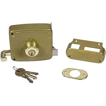 WOLFPACK LINEA PROFESIONAL 3190100 Cerradura S7 / 4125 100HB Derecha Cilindro 50 mm. Sobreponer: Amazon.es: Bricolaje y herramientas