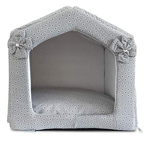 Zjyfywpj Die Hundehütte ist Warm Komfortabel und Winddicht und Bietet EIN Gutes Schlafklima for Haustiere (Farbe : Grau, Größe : L)