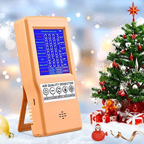 InLoveArts Co2 Messgerät, Luftqualitätsmessgerät CO2/RH/Temp Multifunktions-Luftqualitätsdetektor Mit LCD-Bildschirm Für Home-Office-Fahrzeuge Verschiedene Anlässe
