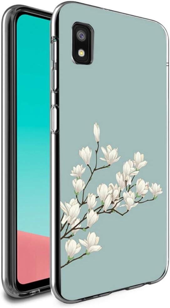Starhemei Galaxy A10E Case, Slim TPU Soft Shell Ultra Thin Flexibility Bumper Rubber Case Cover for Samsung Galaxy A10E (Magnolia)