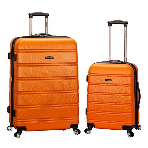 Rockland Melbourne Hardside Expandable Spinner Wheel Luggage, Orange, 2-Piece Set (20/28)