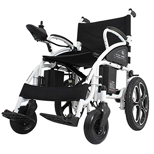 Portable Intelligent Lightweight Foldable Electric Wheelchair Scooter, Two Modes Motorized Wheelchair for Adult, Folding Carry Durable Power Wheelchairs, Family More Assured,lithiumbattery