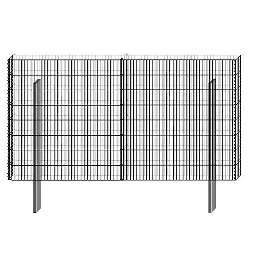 Bellissa Gittermauer Mauersystem limes 23 Basisbausatz H 150cm Gabione Mauer Gitter Sichtschutz Lärmschutz Windschutz Wand