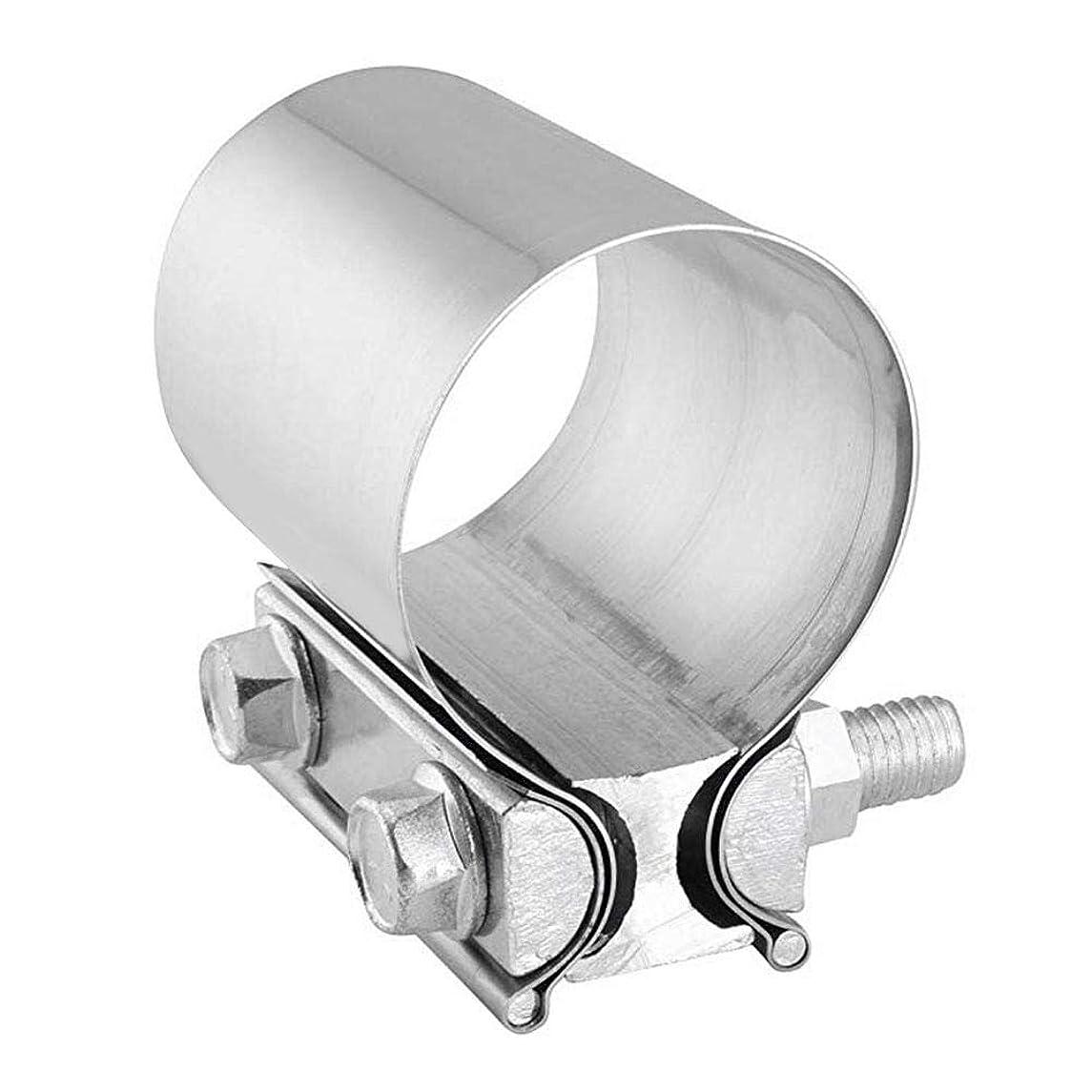 バラバラにするこんにちは慣性クランプ 排気管クランプ 高品質アルミメッキステンレス鋼 長寿命 高強度 高温耐性 高品質アルミメッキステンレス鋼を採用ました、長寿命があるな排気管クランプです