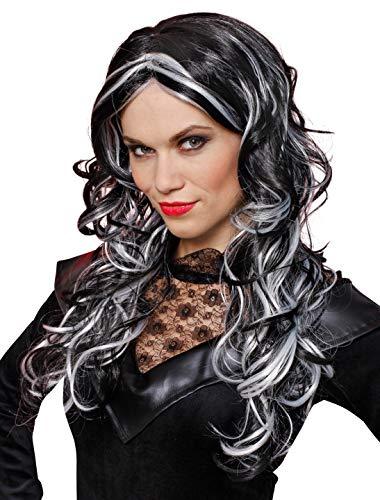 Deiters Perücke Esmeralda schwarz/weiß