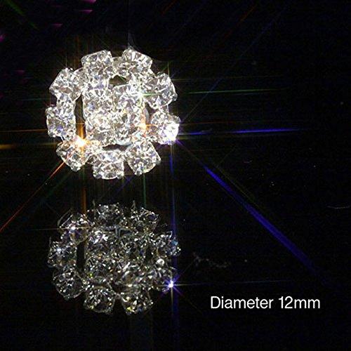20 x Petit rond strass argent Diamante ornements en cristal Sparkle mariage Crafts Invitations