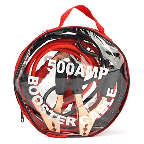 Vococal Câble de Cavalier de Batterie de 2.5m 500AMP avec Le Sac à Main de Stockage pour des véhicules de camions de Voitures