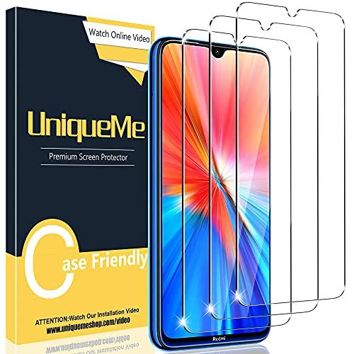 UniqueMe [3 pièces] Verre Trempé Compatible avec Xiaomi Redmi Note 8 /note 8 2021 /Note 7 Pro/Note 7, Film Protection écran [Sans Bulles][9H Dureté] Vitre
