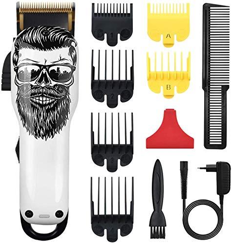 Cosyonall Cortapelos profesional para hombre, mujer, hombre, niños, cortadora de pelo inalámbrica recargable, set de corte de pelo (02)
