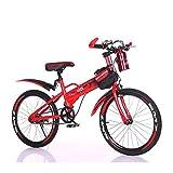 4 5 6 7 Años Bicicletas Infantiles con Hervidor De Agua Y Paquete De Viga para El Automóvil, Juguetes Ligeros para Niños Y Niñas Deportes Al Aire Libre, Plegable, Regalo, 16 Pulgadas,Rojo