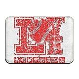 Klotr Felpudos, Home Door Mat I Love Softball Doormat Door Mats Entrance Rugs Anti Slip 40x60 CM For Indoor Outdoor