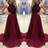 RVXZV SillyqZ Vintage Lace Long Maxi Dress Women Evening Wedding Party Formal Fashion Dresses Ladies Sleeveless Summer Tulle Dress XL Burgundy