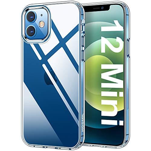 HOOMIL Clear Funda Compatible con iPhone 12 Mini Carcasa Silicona Transparente