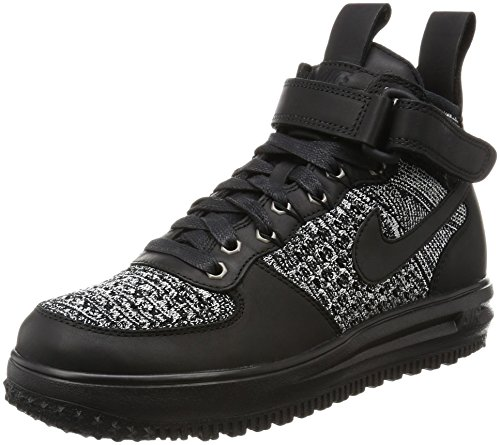 Nike Womens LF1 Flyknit Workboot Hi Top Boots Trainers 860558 Sneakers (US 7, black white cool grey 001)