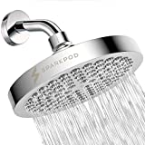 High pressure rainfall shower head: Our luxury bathroom rainhead is the perfect replacement that will jet out high-pressure rain of hot water so your whole body is doused with the downpour. You won't go back to a normal shower again Easy tool-free in...