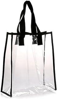 LIOOBO Borsa a Tracolla Tote da Lavoro con Sicurezza Shopping Bag Trasparente in PVC