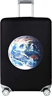 Travel Luggage Cover Washable Suitcase Protector Fit for 18-32 Inch Luggage (S(18-21 inch luggage), Earth)