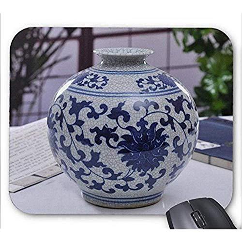 Mausepad Jingdezhen Chinese China Alte Offizielle Brennofen Blau Und Weiß Porzellan Knistern Glasur Vase Muster Mauspad Spielmatte Computer Zubehör Mousepad 25X30 Cm