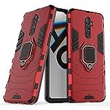Max Power Digital Funda para móvil Realme X2 Pro (6.5') con Soporte Anillo Metálico - Carcasa Híbrida Antigolpes Resistente (Realme X2 Pro, Rojo)