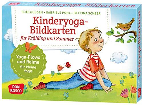 Kinderyoga-Bildkarten für Frühling und...