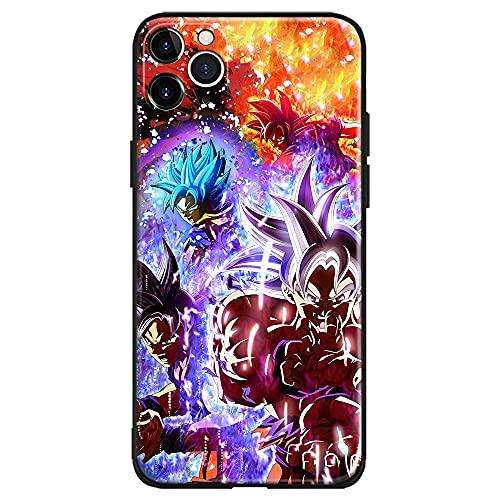 Soporte de TPU para iPhone Samsung Xiaomi Redmi Note 10 Pro/Note 9/Poco M3 Pro/Note 8/Poco X3 Pro Funda Goku Ultra Instinct Super Saiyan Blue God Cubierta de Las Cajas del teléfono de Cristal
