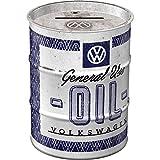 Nostalgic-Art Hucha de Barril de Aceite Retro Volkswagen General Use Oil – Idea de Regalo para los Fans de VW Bus Hucha de Metal de 600 ml