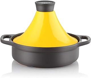 Tajín Marroquí Tajine de Hierro Fundido 27 Cm Material Cerámico con Mango Anti-escaldado Y Tapa Cónica 2 litros Olla de Cocción Lenta Apto para Todos Los Tipos