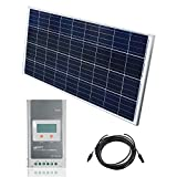 Juego solar de 12 V sistema solar MPPT regulador de carga Kit solar PV Módulo solar para caravana
