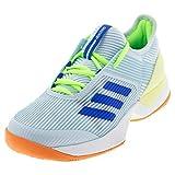adidas Women's Adizero Ubersonic 3 Tennis Shoe, Sky Tint/Glory Blue/Amber Tint, 11.5 M US