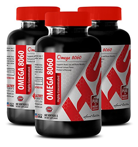 Omega 9 Supplement - Highly Concentrated Omega 8060 3000 MG - Help in Weight Loss (3 Bottles)