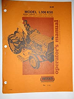Woods L306 K50 Rotary Cutter Mower (for Kubota tractors) Operators/Parts Owners Manual 7287
