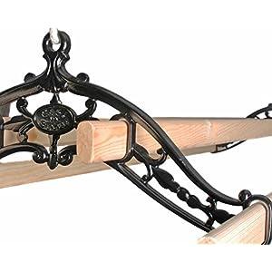Premium British Cast Iron Ceiling Airer Classic 4-Slat Bracket Lacquer 6ft Slats