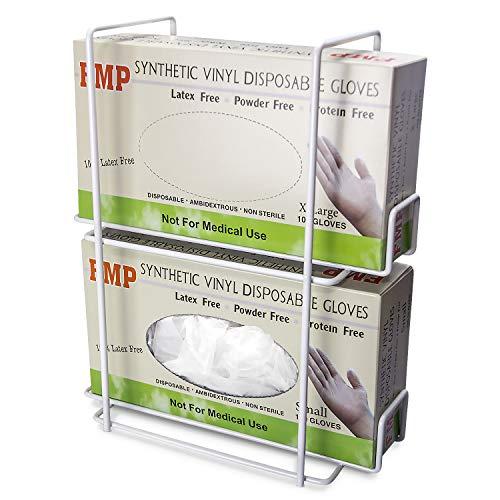 Wire Rack Disposable Gloves Napkin Box Single Wall Mount Glove Tissue Dispenser