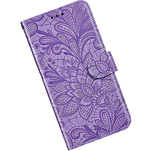 Price comparison product image Qjuegad Compatible with Samsung Galaxy A20e Flip Cover Phone Wallet Cover Case Shockproof PU Leather & Silicone Inner Back Cover Magnetic Case with Kickstand / Card Holder