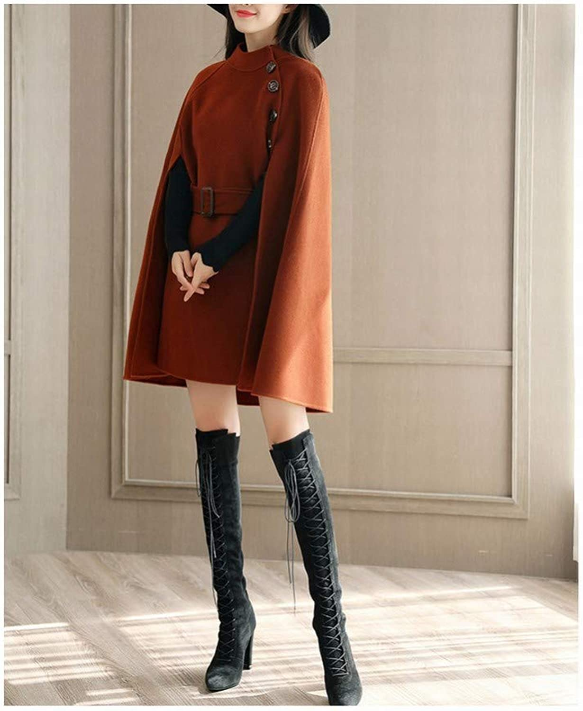 Coat Jacket, Woolen Coat, Autumn and Winter Women's Temperament Shawl Cloak Coat, Slim Slim Coat PLLP