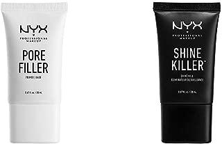 NYX PROFESSIONAL MAKEUP Make Up Pore Filler Bundle with Shine Killer (2 Items)