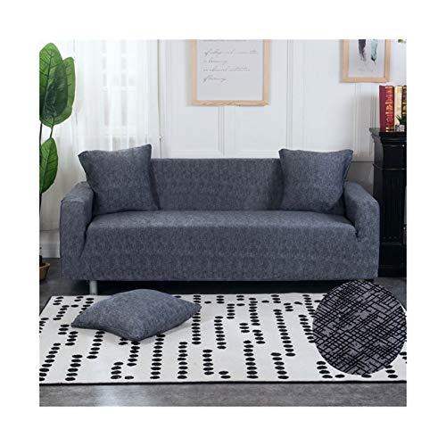 Cubierta de sofá de Estiramiento, sofá elásticos Cubiertas para Sala de Estar, Sofá Muebles Protector Fundas Sofás con Chaise Longue 1pc (Color : Color 12, Specification : 3 Seater 190 230cm)