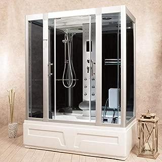 Cabina hidromasaje 150 x 90 o 160 x 85 cm cromoterapia radio cabina ducha disponible también con sauna bajo pedido