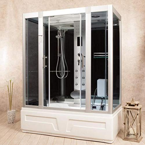 Cabina de hidromasaje 160 x 85 cm cromoterapia radio cabina ducha disponible también con sauna bajo pedido I