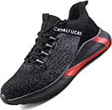 Ucayali Zapatos de Seguridad Hombre Calzado Trabajo Comodos Ligeras Zapatillas para Trabajar con Punta de Acero Transpirables Antiestaticos Cocina(017 Negro, 42 EU)