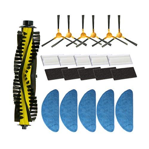 Mizuho Spazzola Laterale + Filtro + MOP + Pennello a rulli Adatto per Neatsvor X500 / X600 Robot Aspirapolvere Accessory Kit di Ricambio (Color : C)