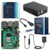 Vilros Raspberry Pi 4-4GB RAM-Basic Starter Kit with Heavy-Duty Self-Cooling Aluminum Alloy Case