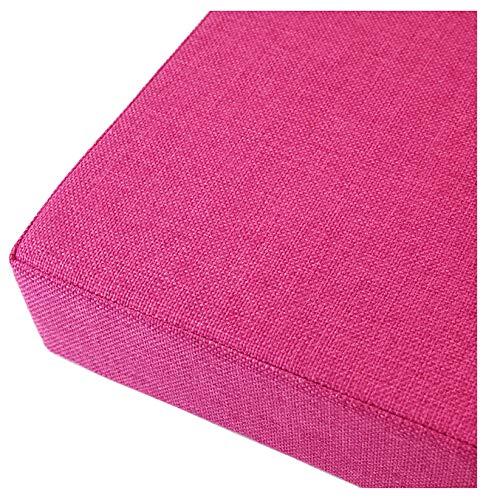 GERYUXA Cojines para Bancos De Jardín Colchonetas para Cojines para Bancos con Costura de comodísmo y desenfundable Mullido Cojín De La Silla-Rosa Roja 150x30x5cm(59x12x2in)