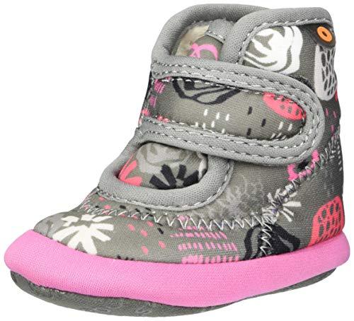 BOGS Baby Elliott II Rain Boot, Garden Party-Dark Gray Multi, 4 US Unisex Infant
