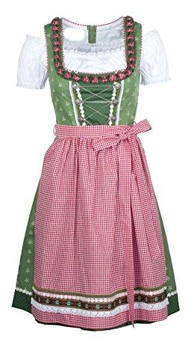 Ramona Lippert® Damen-Dirndl, Claudia grün (42) - 3-teiliges Dirndlkleid für Frauen, hochwertige Trachtenmode