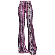 ShopMyTrend SMT Women's High Waist Wide Leg Long Palazzo Bell Bottom Yoga Pants
