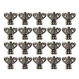 Sweieoni 20 Piezas Esquina Decorativa de Muebles Patas Decorativas de Bronce de Aleación de Zinc Caja de madera Joyero Caja de almacenaje Protector de Pie Esquina