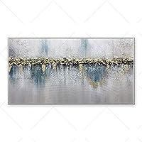 ポスターキャンバスアートカラフルなグレーホワイトブルーライトペインティングキャンバス部屋の装飾モダンな抽象絵画-60x100cm-フレームなし