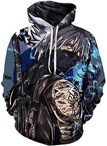 LIKEJJ marshmello Hoodie Herren Naruto 3D Druck Pullover Hoodie Sweatshirt mit Fronttasche XL_Farbe 20